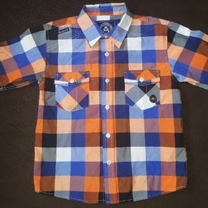 Akademiks Short Sleeve Button Down Shirt